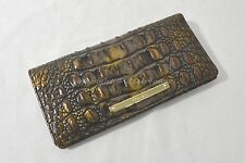 NWT! Brahmin Ady Wallet in Fall Tortoise Melbourne. Croc-Embossed leather.