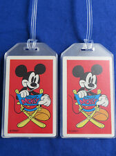 MICKEY MOUSE CUSTOM LUGGAGE TAGS SET OF 2 - DIRECTOR'S CHAIR - BAG NAME TRIP ID