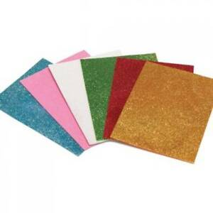 Glitter EVA Foam Christmas Crafts 6 Sheets Self Adhesive Crafts