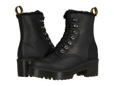 Para mujeres Zapatos Dr. Martens imitación piel cuero Leona Plataforma Botas 26190001 Negro