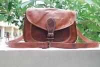 2017 Genuine Vintage Brown Leather Messenger Bag Shoulder Laptop Bag Briefcase