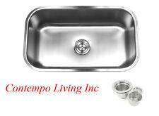 """30"""" x 18""""x 10"""" Deep Stainless Steel Single Bowl 18 Gauge Undermount Kitchen Sink"""