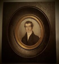 """Peter Mayr (1758-1836) """"Young Gentleman"""", Fine Miniature Painting Dated 1827"""