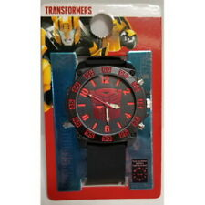 New Hasbro Transformers Watch Black Silicone Band Big Dial