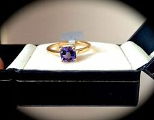 Tanzanite Heating Yellow Gold Solitaire Fine Rings