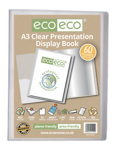 eco-eco A3 Size 50% Recycled 60 Pocket Presentation Display Book