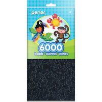 Perler Beads Fuse Beads for Crafts, 6000pcs, Black
