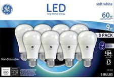 60W LED Bulbs Replacement Soft White 8 Pack