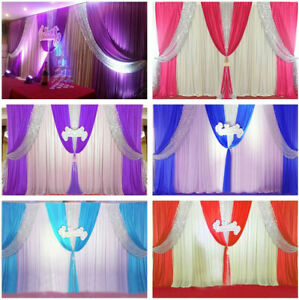 20x10ft / 3X3M Wedding Stage Decor Backdrop Party Drapes Swag Sequin Background