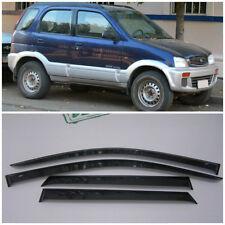 Wide Window Visors Side Rain Guard Vent Deflectors For Daihatsu Terios 1997-2006
