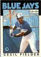 1986 O-Pee-Chee Cecil Fielder Toronto Blue Jays #386