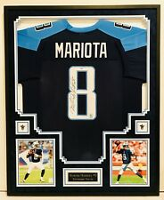 MARCUS MARIOTA #8 TENNESSEE TITANS , AUTOGRAPHED, FRAMED JERSEY  PSA/DNA COA