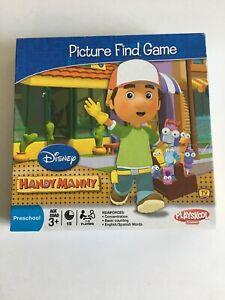 Handy Manny Picture Find Game Preschool Playskool Hasbro Disney Board Game