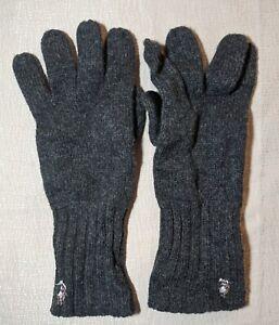 Polo Ralph Lauren Men's Pony Lambswool Gloves Gray