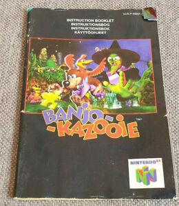 Nintendo 64 N64 Banjo Kazooie Manual - MANUAL ONLY