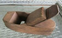 "Antique Primitive Block Wood Plane 8"" x 2.5"" Carpentry Carving Hand Tool"