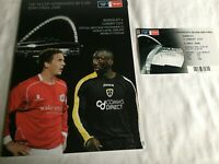 Barnsley v Cardiff City2008 FA Cup Semi Final Programme +Ticket