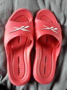 Mens/ladies unisex REEBOK Pink Sliders size 9/42