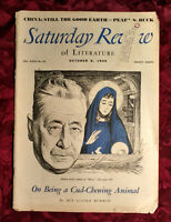 Saturday Review October 8 1949 PEARL BUCK SHOLEM ASCH