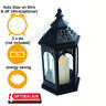 Moroccan Flame-less Color Changing Flickering LED Candle Battery Lantern Light