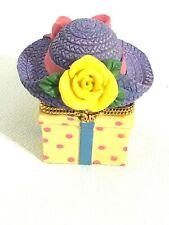 Trinket Box / Clay / Straw Hat / Rose / Rings / Earrings / Pretty Colors