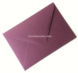 Bordeaux / Burgundy C6 / A6 114x162mm Envelopes 120gsm Dia. Flap Wedding Invites