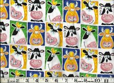 "COWS - MOO, 100% Cotton Flannel, 29"" PIECE"