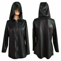Waterproof 100% Latex Rubber Sport Handsome Hoodie with Zipper Jacket Size S-XXL