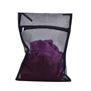 Clothes Washing Machine Laundry Bag With Zipper Nylon Mesh Net Bra Washing B^BI