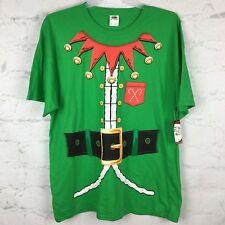 Elf Christmas Shirt Mens XL tshirt costume green ugly sweater funny NEW  santa
