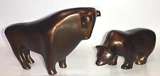 Antik Bulle & Bär bronze-farbiges Aluminium Design Bulle und Bär - Bulle + Bär
