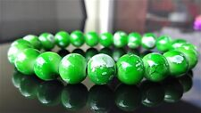 "Avocado Green Gemstone bead bracelet for Men Stretch 10mm - 8"" inch Multicolor"