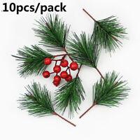 Green Artificial Plants Christmas Decor Pine Needles  Xmas Tree Decoration