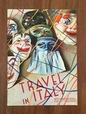 DEPLIANT RIVISTA 1935 ENIT TRAVEL IN ITALY,MERANO TERMINILLO WINTER SCI SKI