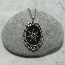 Elven Star Pendant Necklace Septagram Jewelry Heptagram Antique Silver