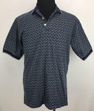 Steve Stricker for Fairway Sport Men's Sz M Blue White 1/4 Button S/S Polo Shirt