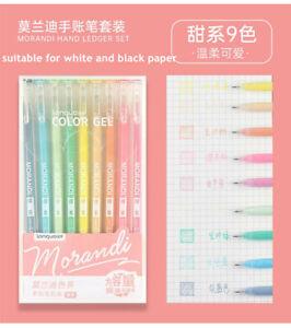 Morandi Colors Gel Ink Markers Pen Highlighter Journal Drawing School Supplies