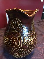 Rare Celebrating Home Pitcher & Platter Set w/Pine Cones Gently Used