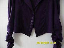 Raro FIGA Ciruela elastizada trabajo carrera Blazer Chaqueta Abrigo Talla 16 sólo uno en eBay