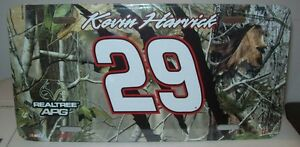 KEVIN HARVICK #29 REALTREE CAMO METAL LICENSE PLATE NEW!!!!!!