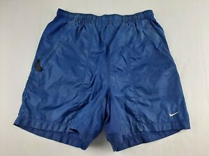 Nike Men M Royal Blue Swim Trunk Mesh Lined Elastic Waist Drawstring Outdoor D2