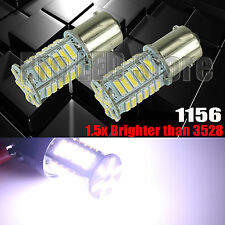 2X 1156 36smd 7014 LED White Reverse Back Up Tail Lights Bulbs