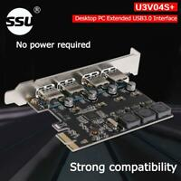 USB Cards 4 Ports 5Gbps PCI-E to USB3.0 PCI-Express Controller Card Adapter