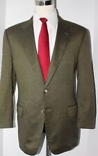 Corneliani Silk Cashmere Brown Twill Two Button Sport Coat Size 46 Reg Jacket