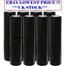 6 ROLLS STRONG BLACK PALLET STRETCH SHRINK WRAP PARCEL PACKING CLING FILM
