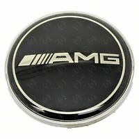 Mercedes Benz AMG Black Emblem for Bonnet - A0008171701 - 57mm