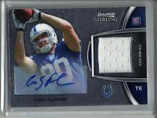 Coby Fleener 2012 Bowman Sterling Autograph Game Used Jersey Rookie