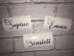Personalised Name Decal Stickers ideal for Water Bottles, Wine Glass, Weddings