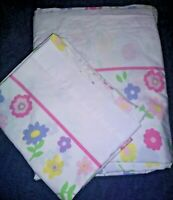 Vintage Twin flat sheet and pillowcase Percale funky floral Print  Retro Boho