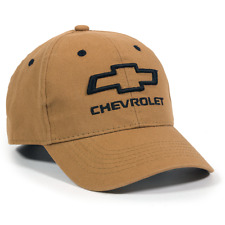 Chevrolet Unisex Structured Canvas Cap Chevy Baseball Cap Brown GEN11C
